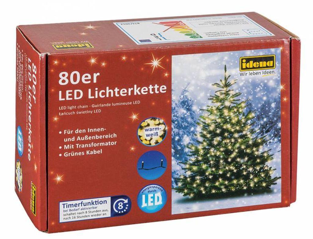 LICHTERKETTE LICHTER KETTE  LED IDENA INNEN AUSSEN 120 LEDS 20 M TIMERFUNKTION