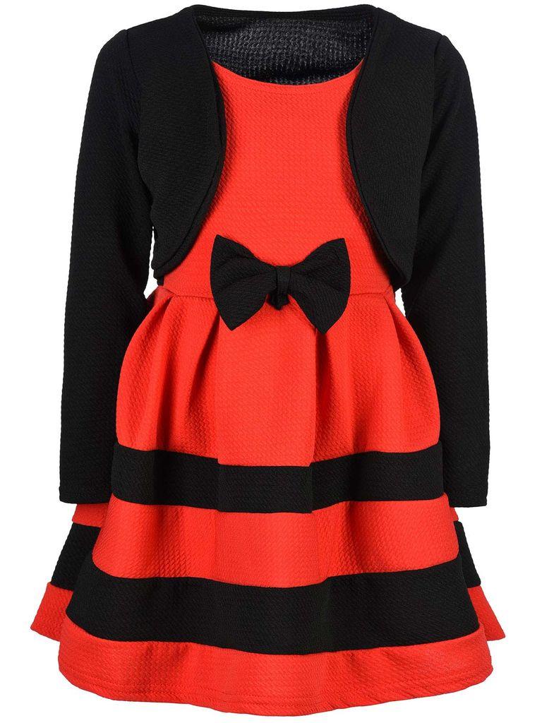 BEZLIT Festliches Mädchen Kleid mit Bolero Schwarz Rot 9