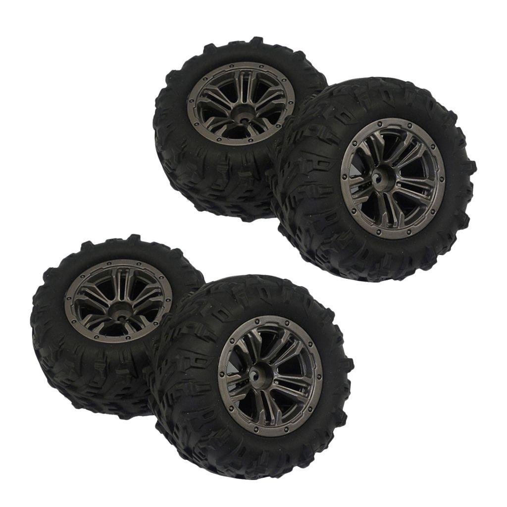 4 Stück 1//12 RC Rennwagen Gummireifen Reifen /& Räder Für D90 MN90 MN91