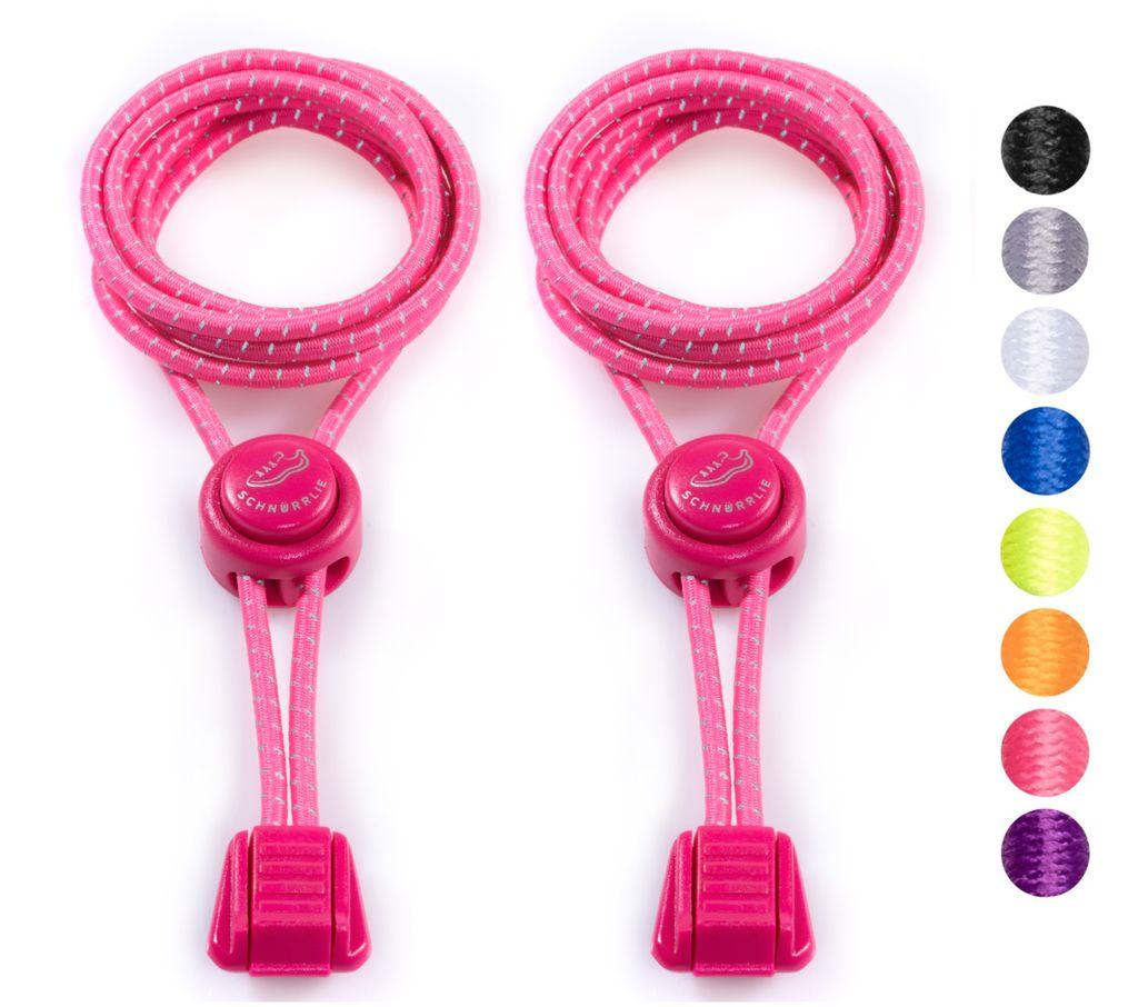 mumbi elastische Schnürsenkel Schnellverschluss Lock Schnellschnürsystem pink