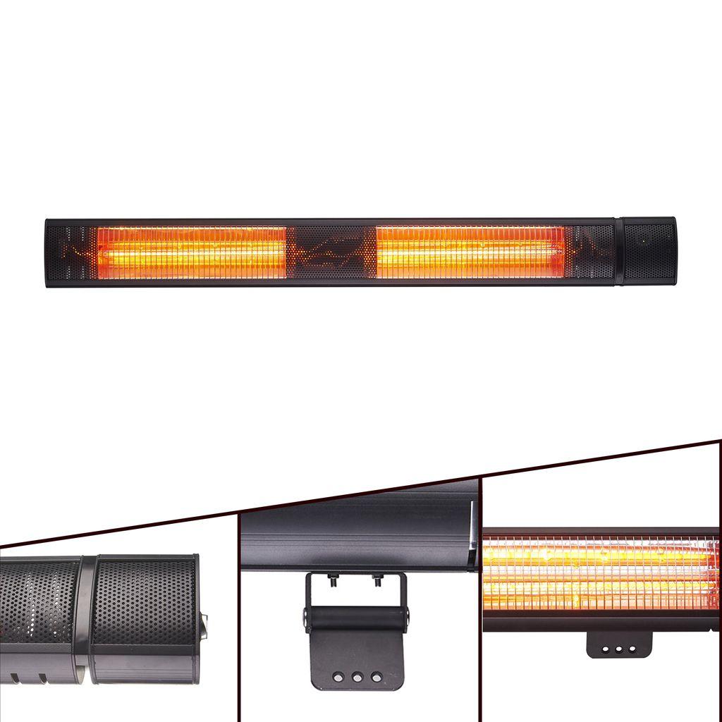 AREBOS Infrarot Heizstrahler Infrarotstrahler Terrassenheizer 20W    direkt vom Hersteller