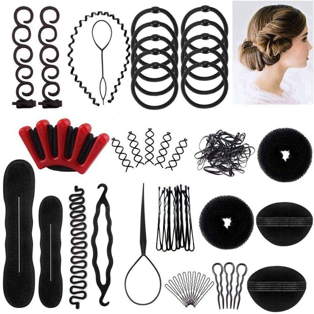 4 Stücke Haar Flechten Werkzeug Pferdeschwanz Maker Kit Set DIY Haar Styling