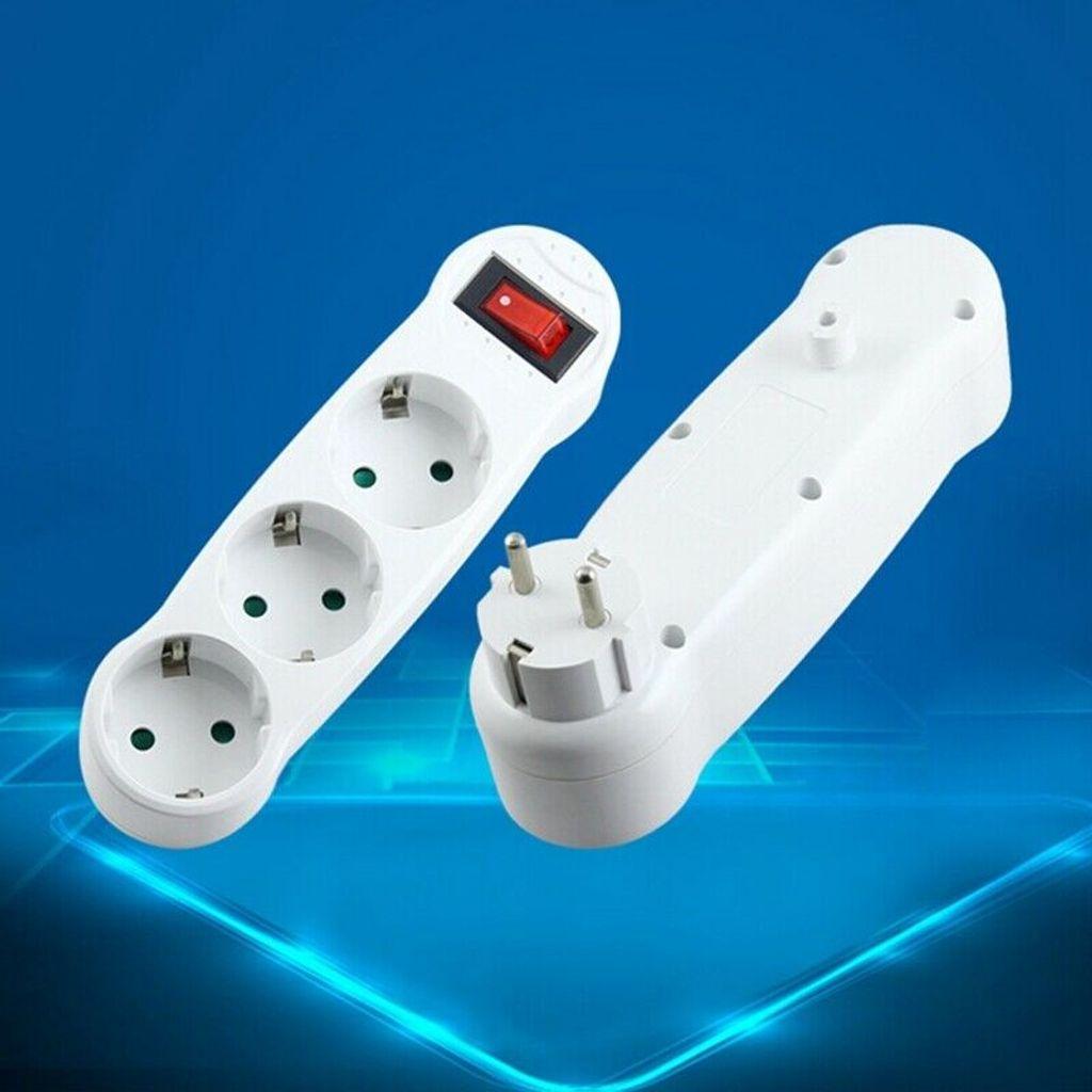 Dreifachstecker Mehrfachstecker Steckdosenverteiler 20 fach Adapter Perfekt  Deutscher Standard 20 bis 20 Verlängerungssteckdose