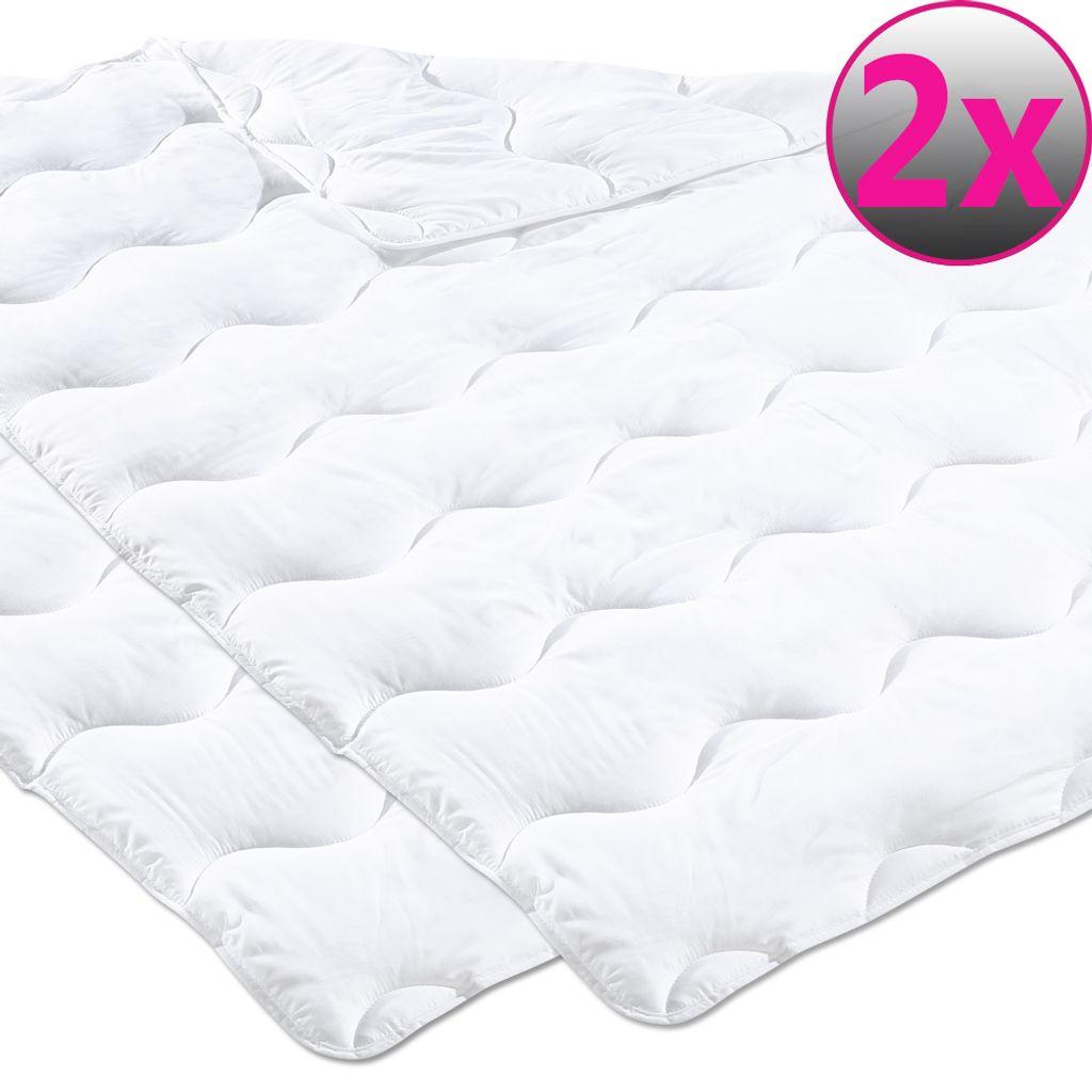 12er Pack Microfaser Steppbett 12 x 112 cm Oberbett für Allergiker geeignet  Bettdecke Einziehdecke bei 12 °C Steppdecke maschinenwaschbar und ...