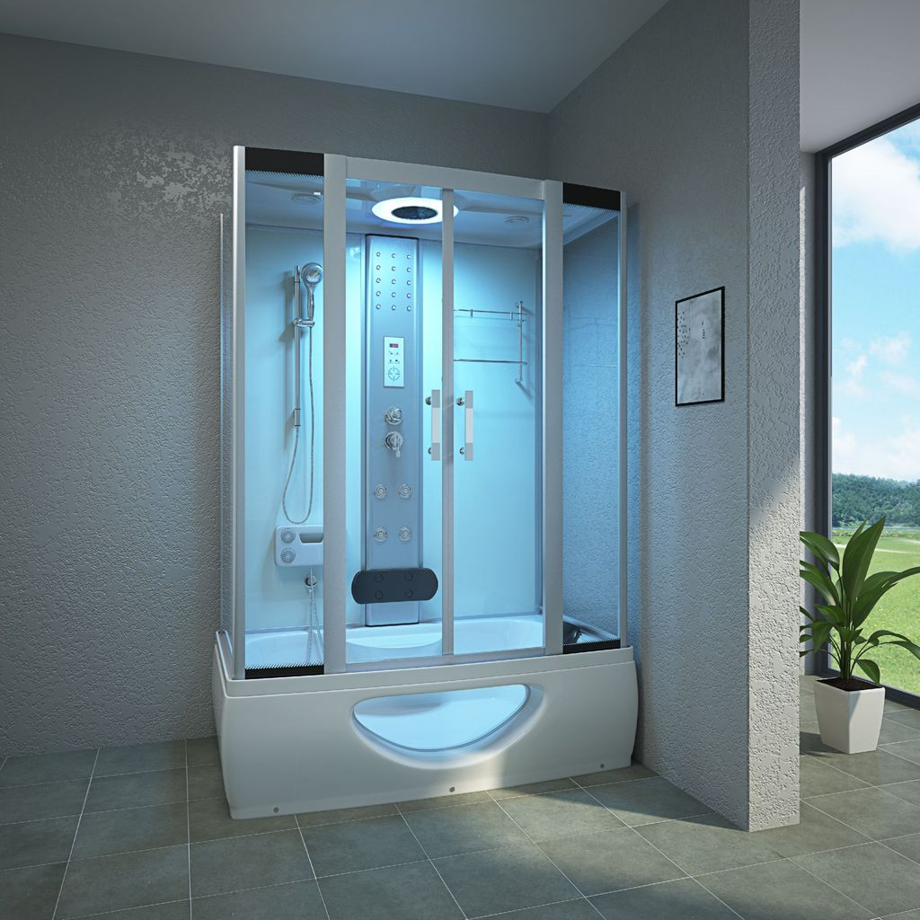 TroniTechnik Komplettdusche Duschtempel Badewanne Wanne Duschkabine Dusche  TINOS 20x20