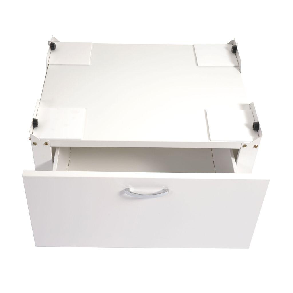Sockel Podest Erhöhung Untergestell Schublade 33x61x52cm Mendler Waschmaschinenunterschrank Austin T852