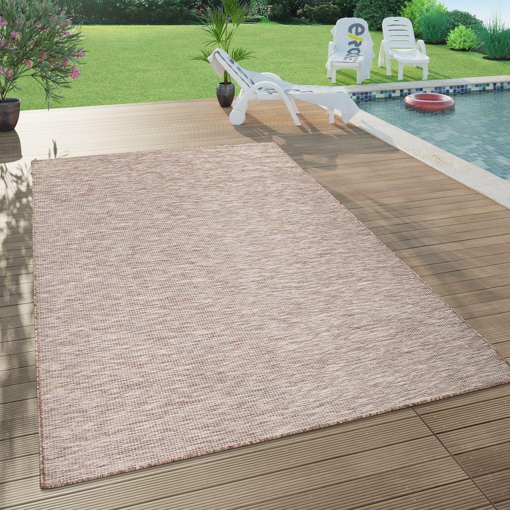 In  & Outdoor Teppich Für Wohnzimmer, Balkon, Terrasse, Flachgewebe In  Beige, Grösse20x20 cm