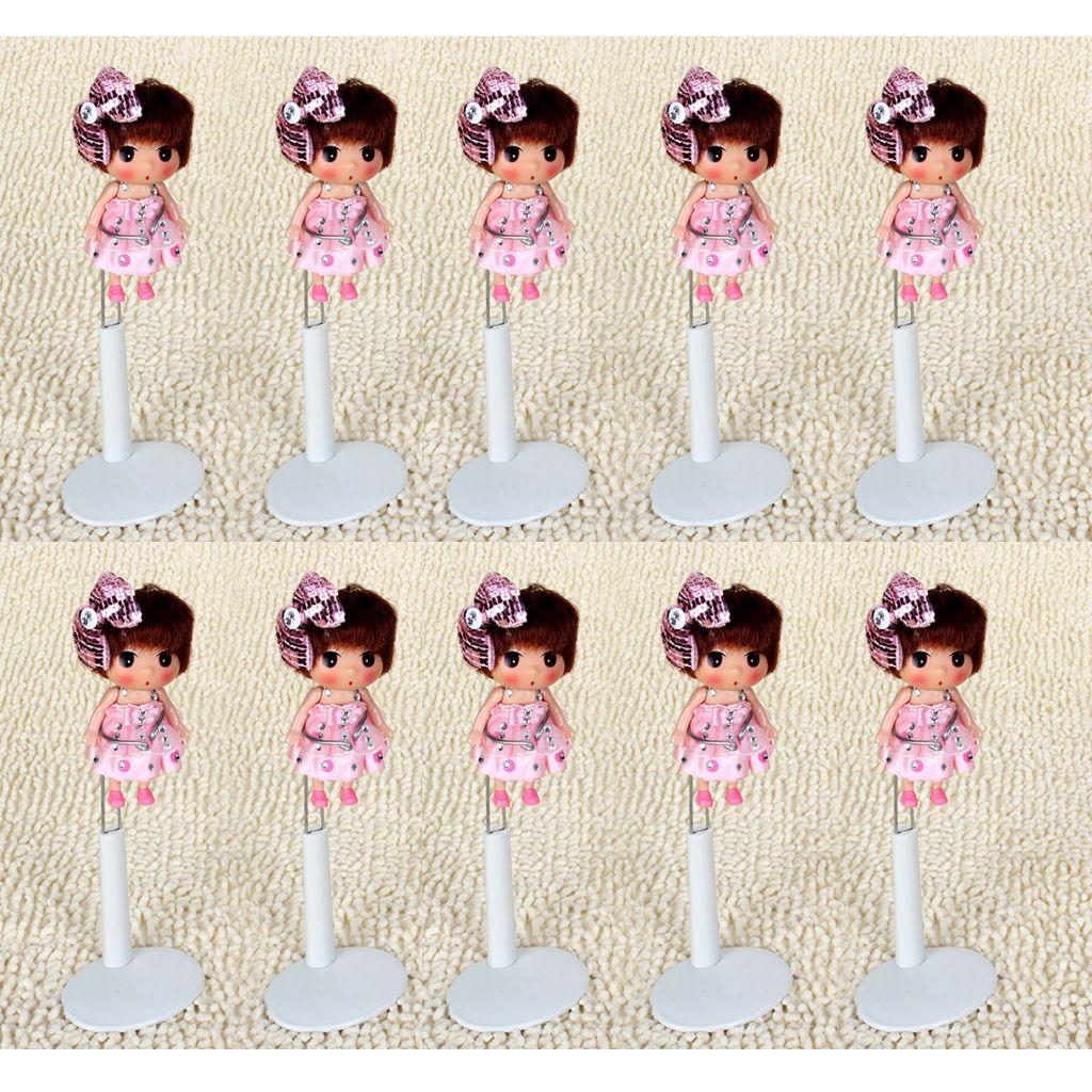 10 Stück verstellbare Puppenständer Displayhalter mit Basis für Barbie Pink//