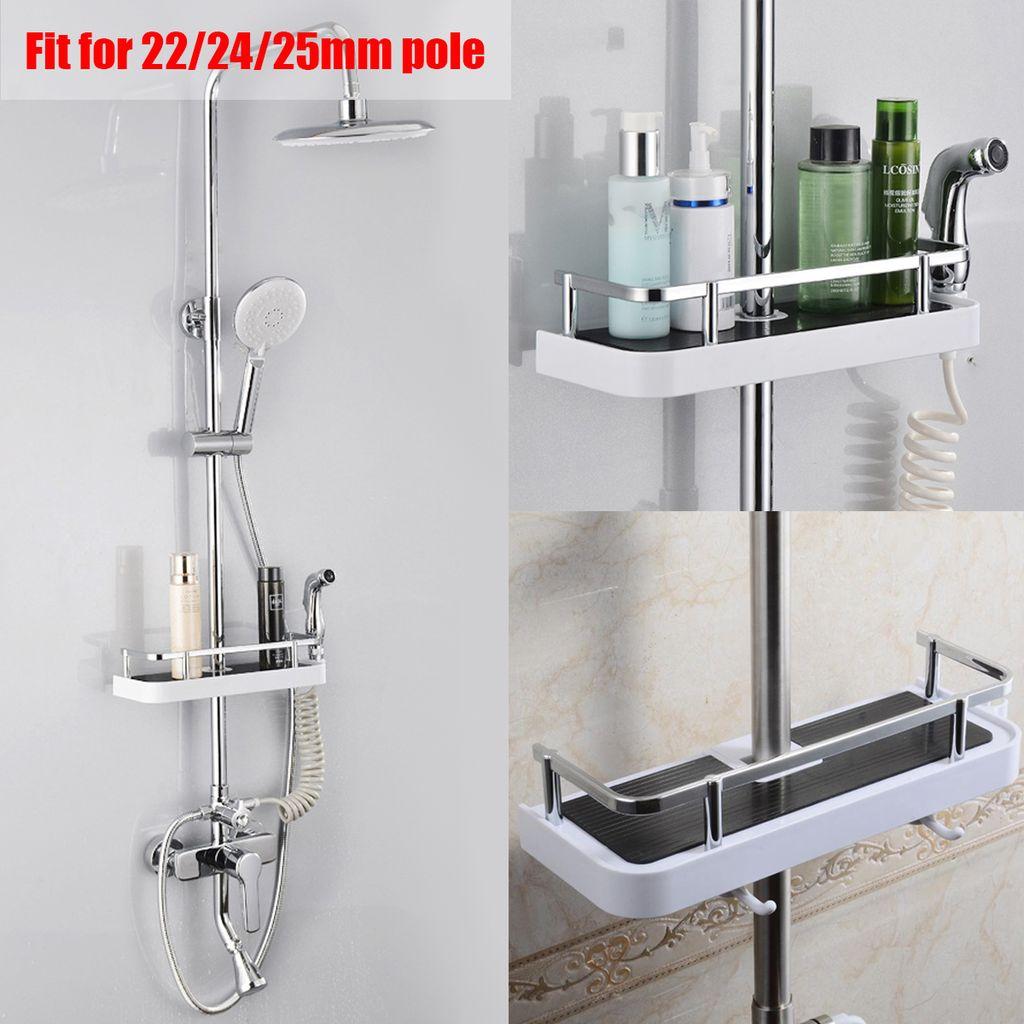 Großes Badezimmer Pole Regal Dusche Lagerung Caddy Rack Organizer Tray  Halter