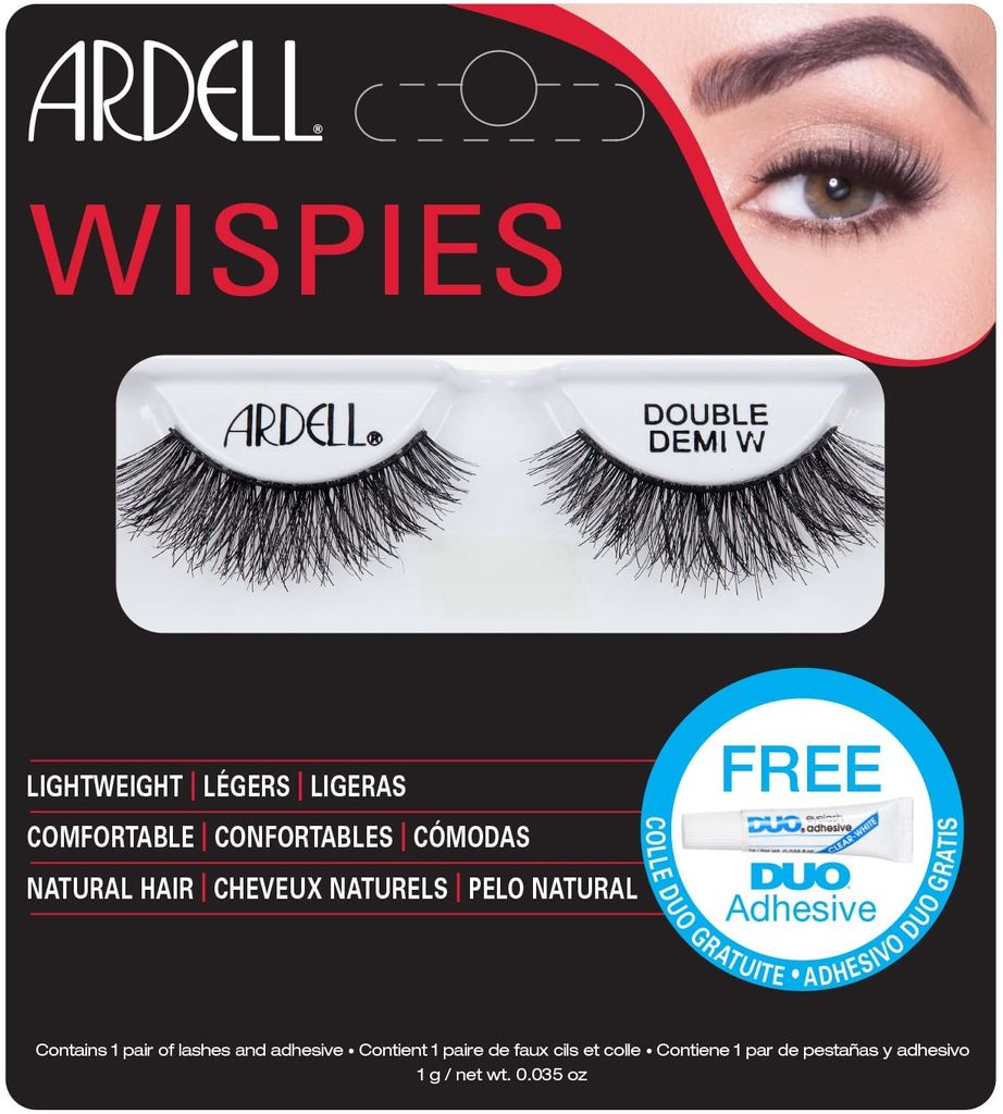 Ardell Lashes Double Demi Wispies with Free DUO Glue