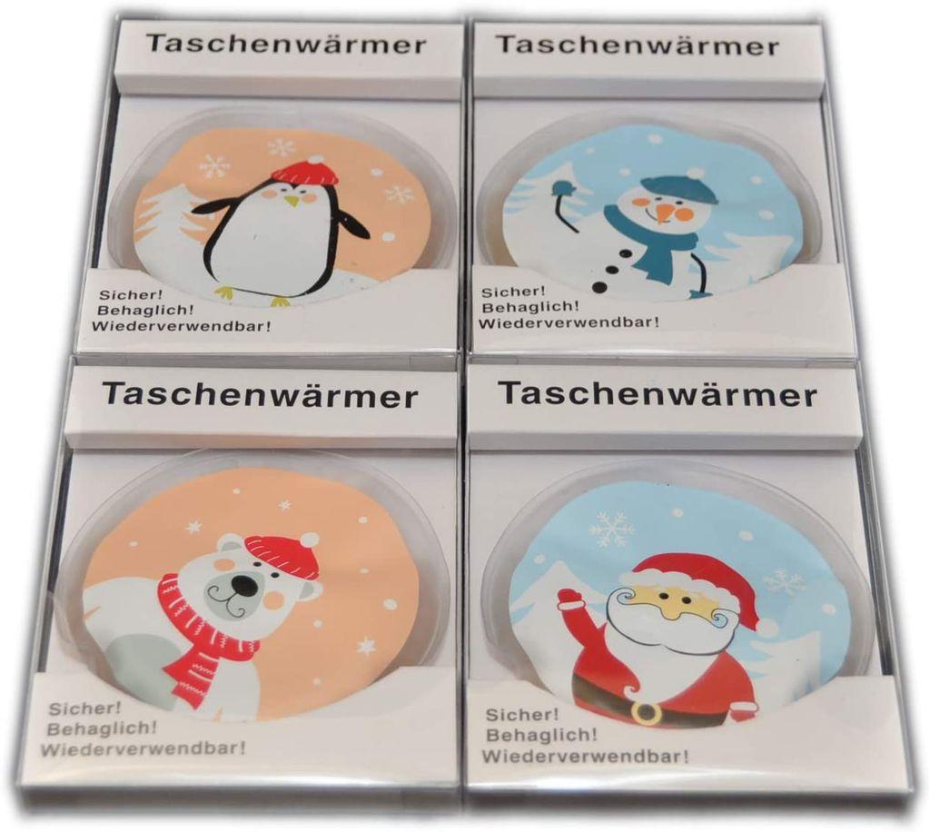 "COM-FOUR 4er Pack Taschenwärmer Handwärmer /""Elch/"""