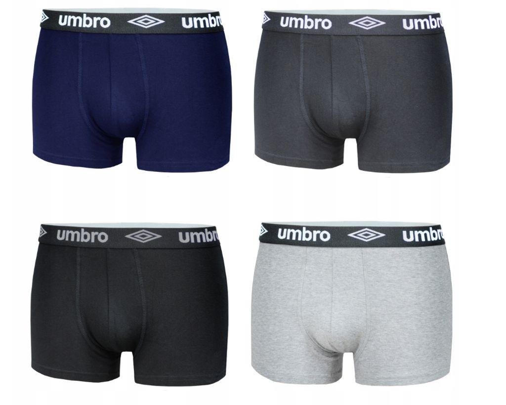 UMBRO Unterwäsche Herren Boxer Schwarz//Blau 3-Pack Boxershort Trunks Farben