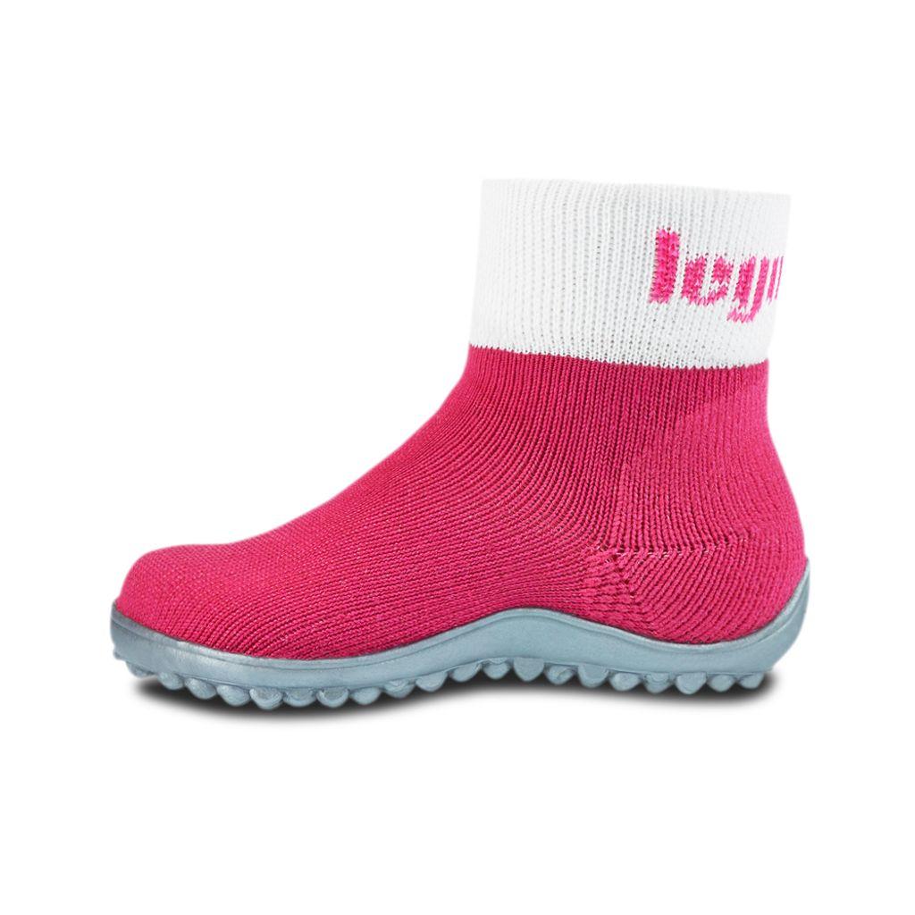 KINDER Pink Textil Hausschuh,NEU Leguano Leguanito Kinder Barfußschuh