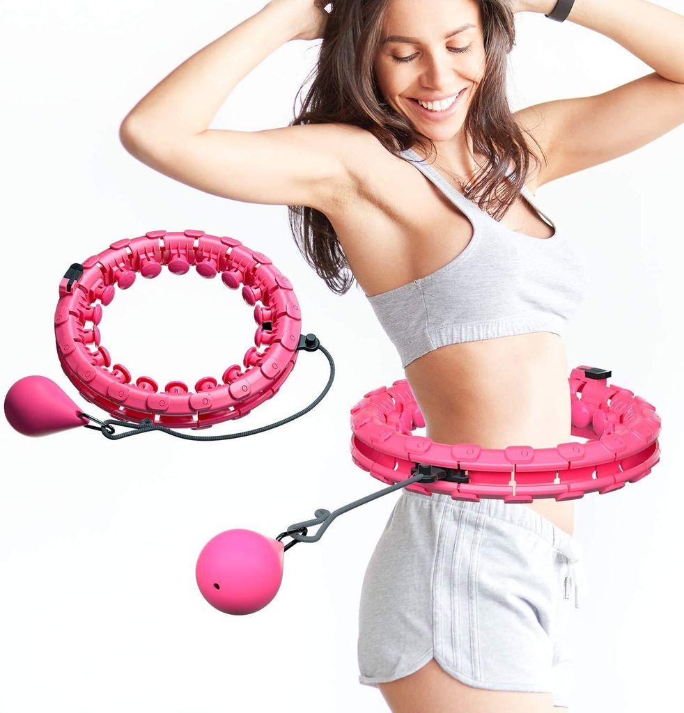 Einstellbar Breit Hula Hoop Reifen Fitness mit Massagenoppen f/ür Kinder Erwachsene Anf/ängermit Gymnastikreifen zum Abnehmen Massage Fitness JMW Hula Hoop