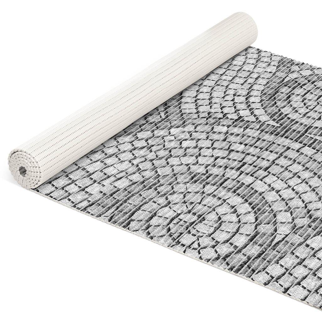 Mosaiksteine Steine in Grau Breite 20cm Badematte Weichschaummatte Länge  20cm