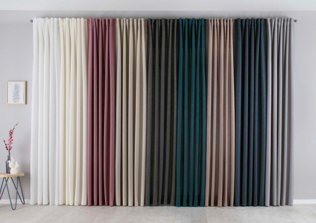 Verdunklung Fertigschal Schlaufenbandschal Seitenschal Vorhang Galdin 12 Farben