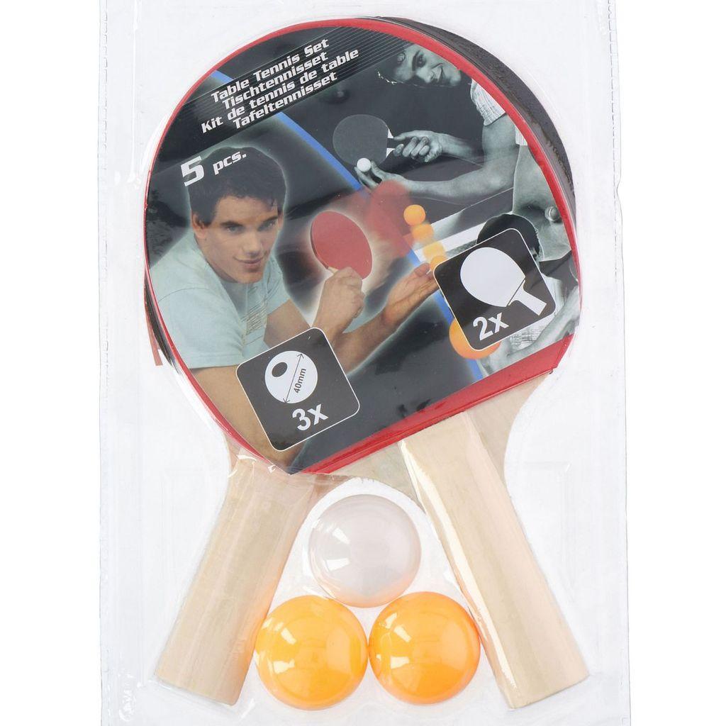 3x Bälle Tischtennisschläger Tischtennisbälle Tischtennis Set 2x Schläger