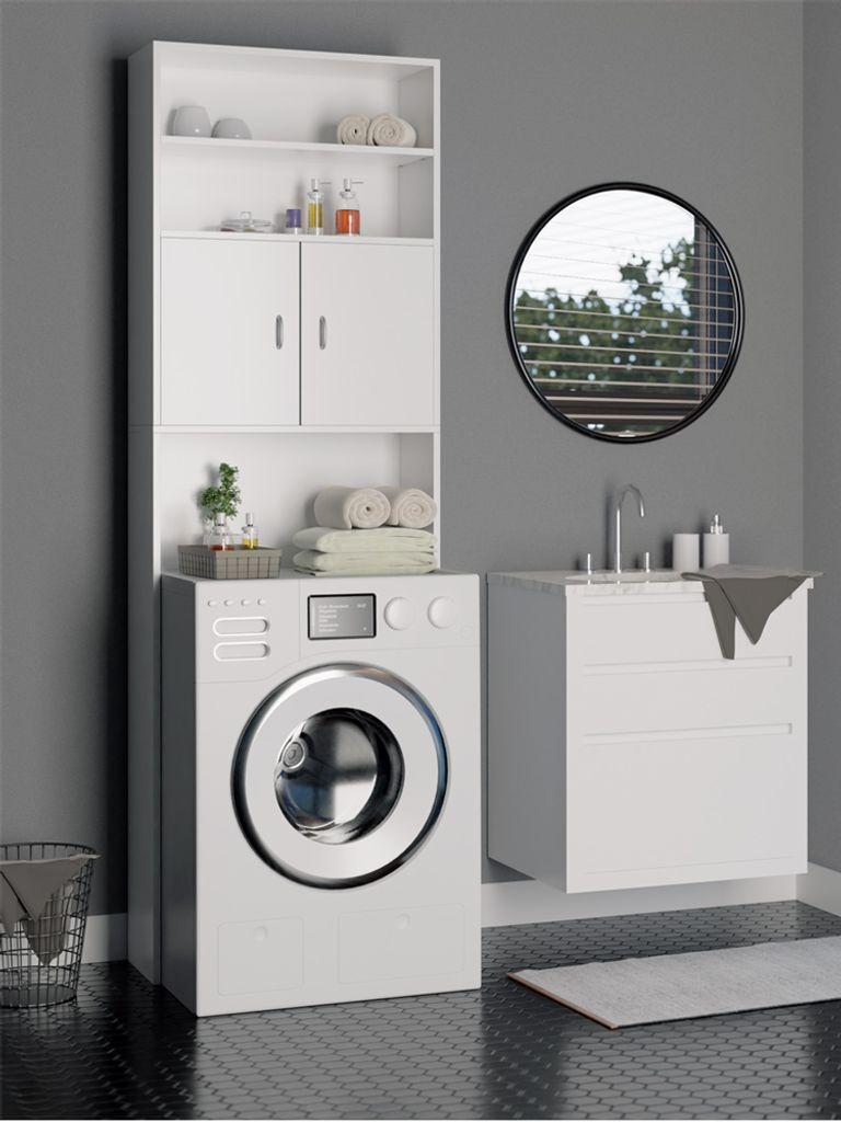 DEUBA Waschmaschinenschrank Badschrank 20 x 20 cm Badhochschrank  Hochschrank