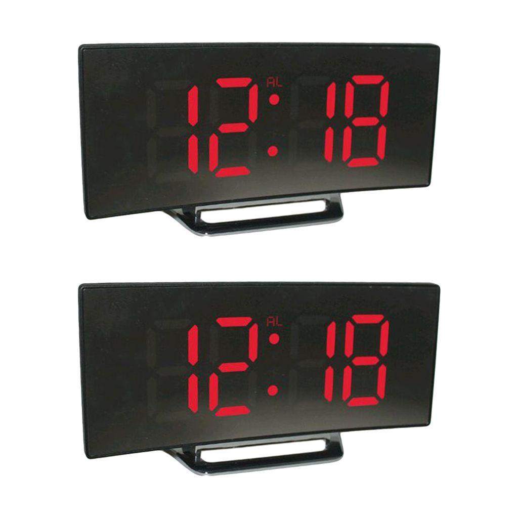LED Digital Wecker Zeitanzeige Temperatur Elektronische Tischuhren