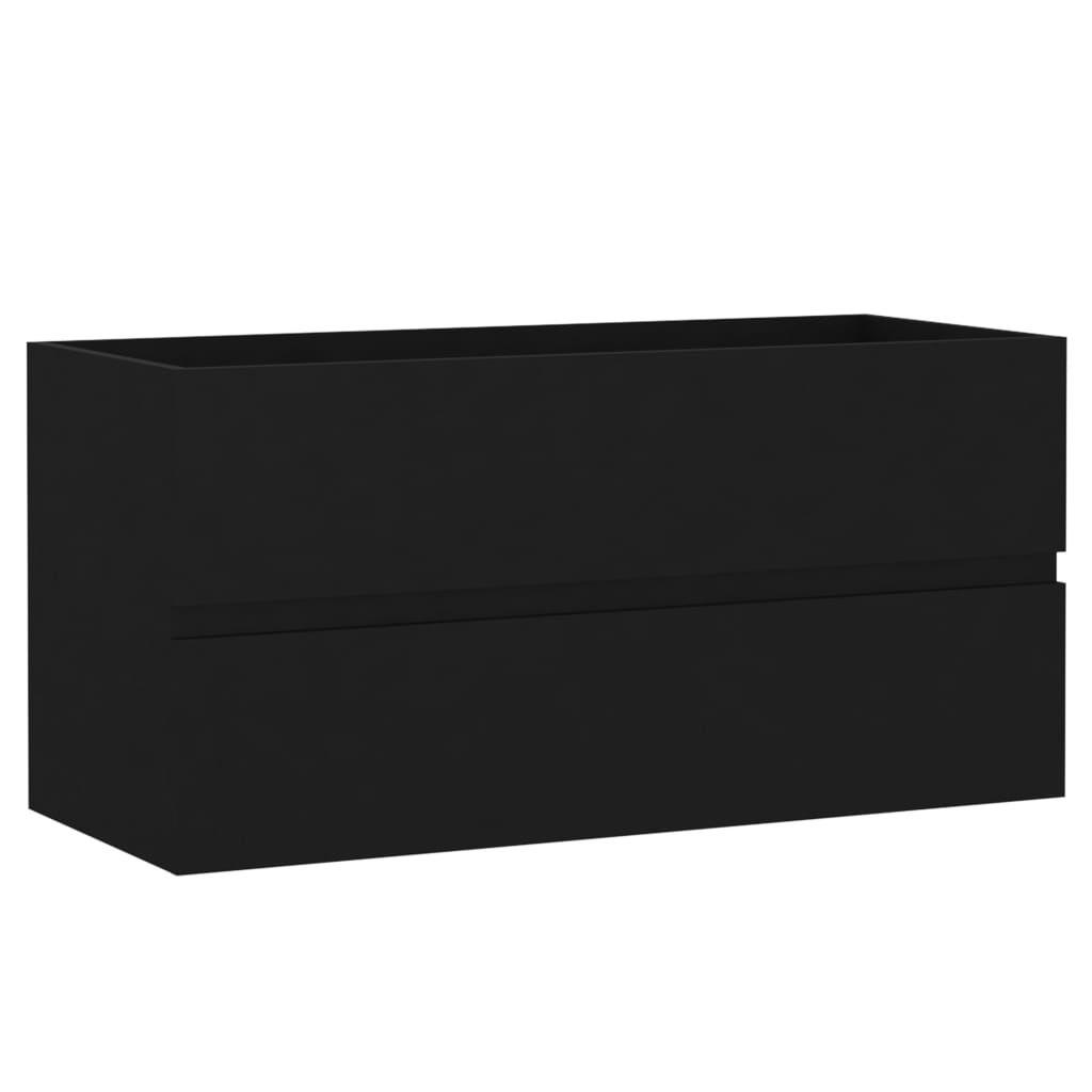 Waschbeckenunterschrank Schwarz 20x20,20x420 cm   Kaufland.de