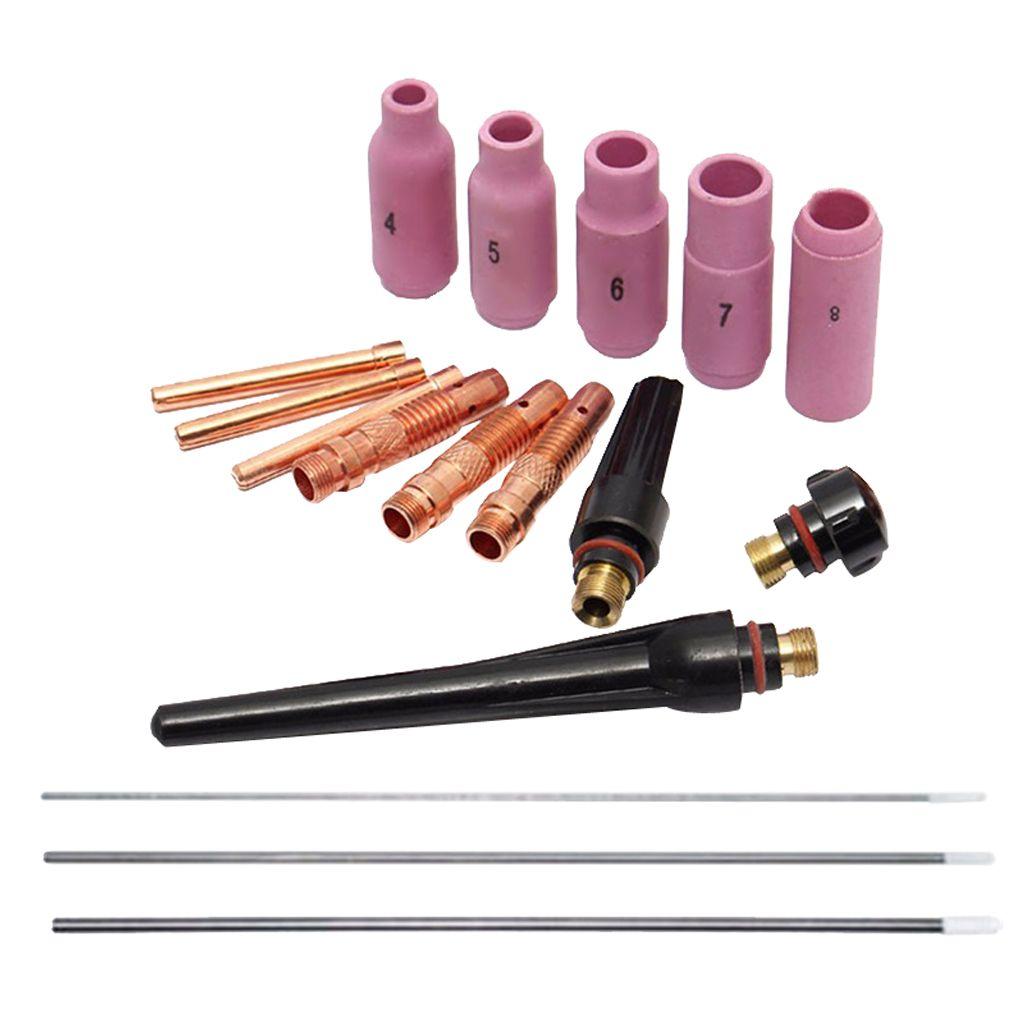 Spannzangen Kit 17tlg für Wig-Schweißbrenner WP-17 WP-18 WP-26 WIG