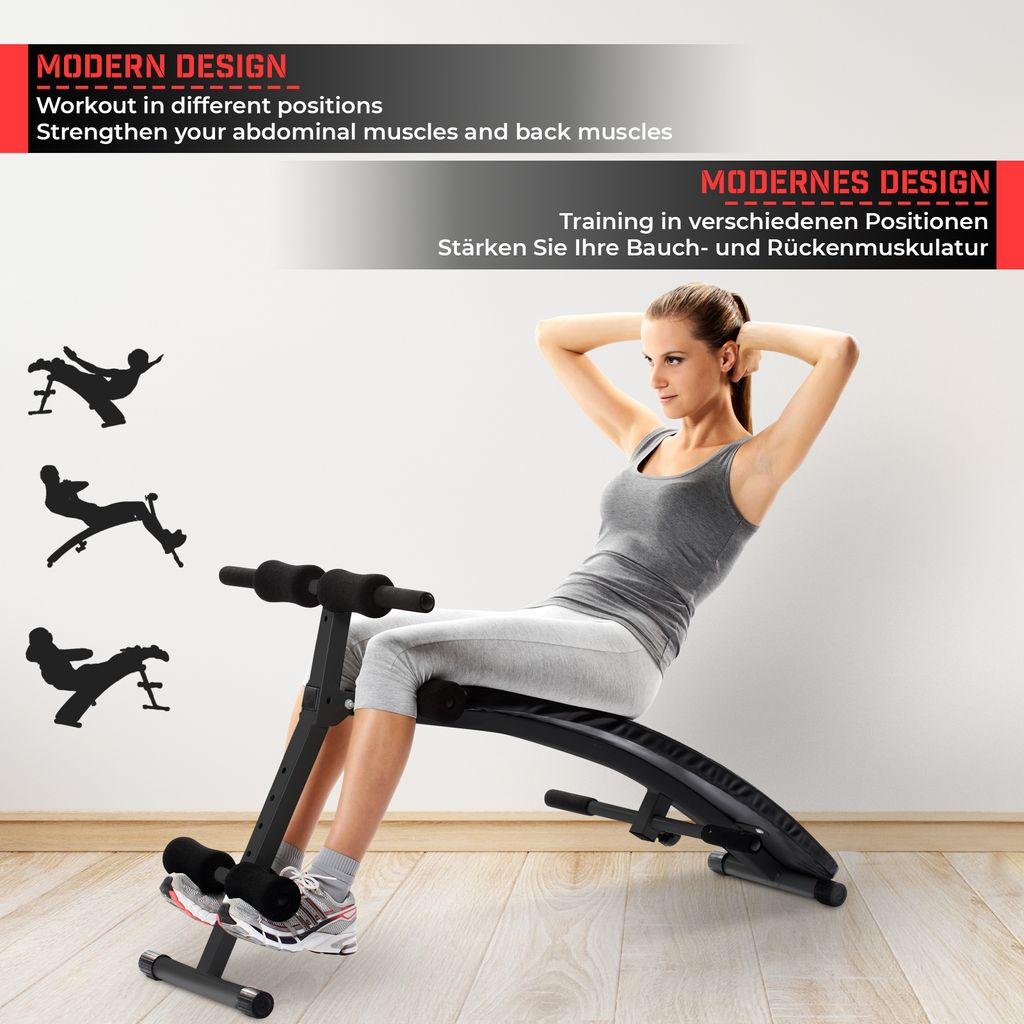 Sit-Up KlappbarerBauchtrainer Trainingsbank Fitness Rückentrainer Fitness