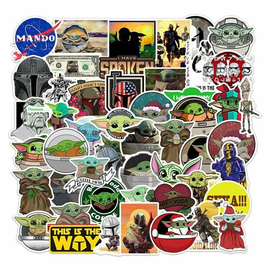 50Pcs Baby Yoda Aufkleber Vinyl Laptop Gepäck Decals Aufkleber Nue Hw9d