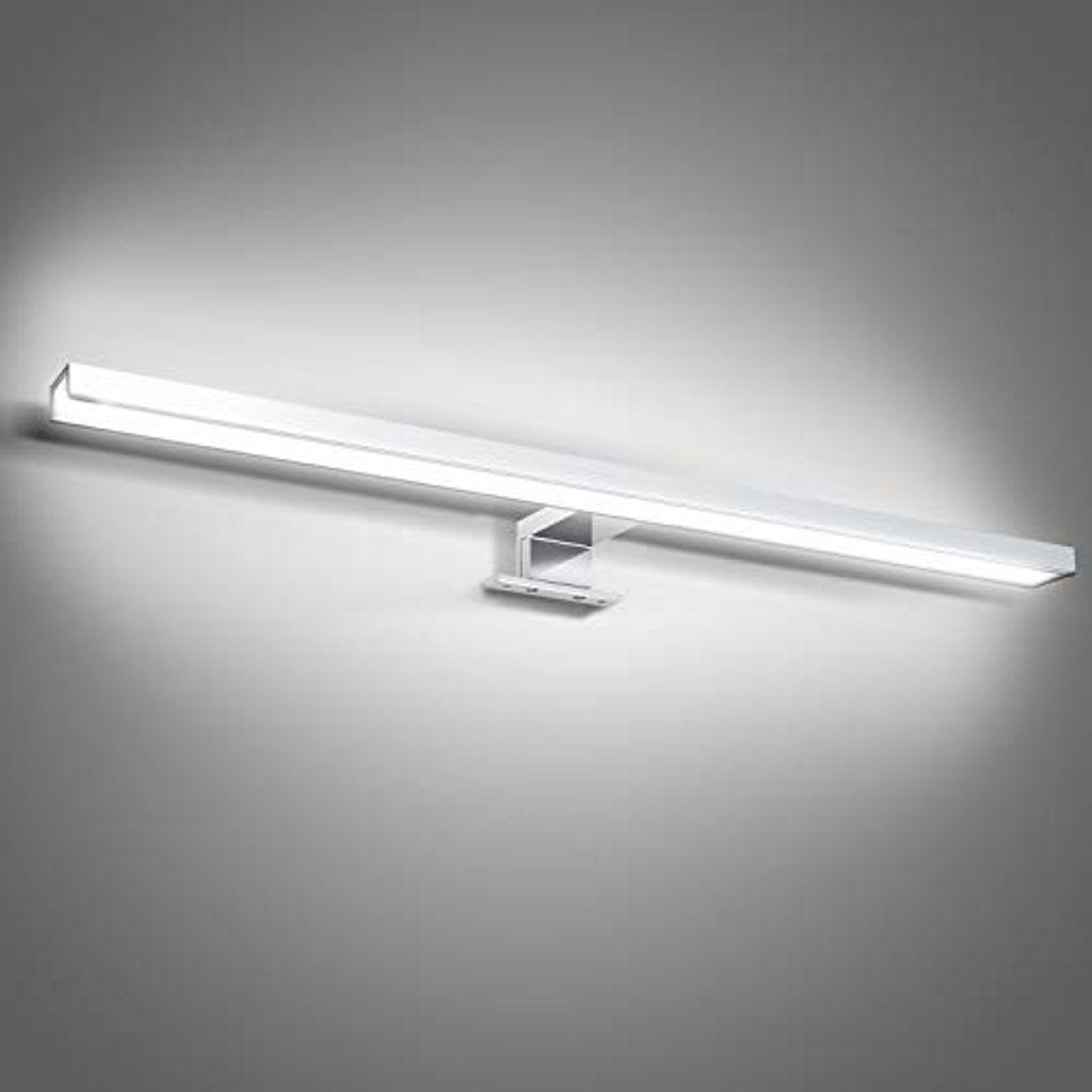 Wolketon LED Spiegelleuchte 20W Weiss Spiegellampe IP20 Mit Schalter  Badezimmerlampe 20CM 20K 2000LM Fuer Badezimmer Schminktisch Schlafzimmer¡