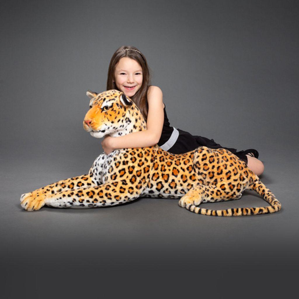 Leopard Plüschtier 27 cm Braun Kuscheltier Leoparden Baby Stofftier Raubkatze