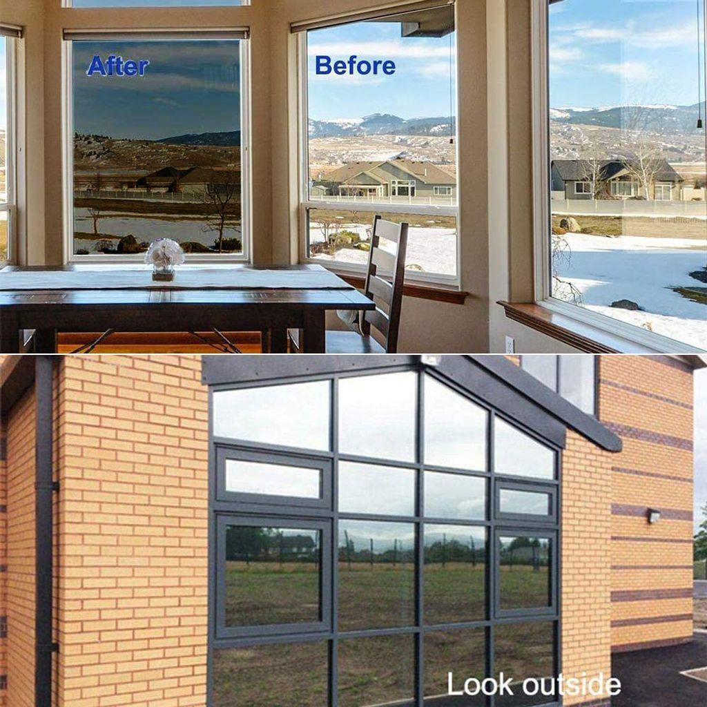 Sichtschutzfolie 50cm x 3m Spiegelfolie Fensterfolie selbstklebend casa.pro