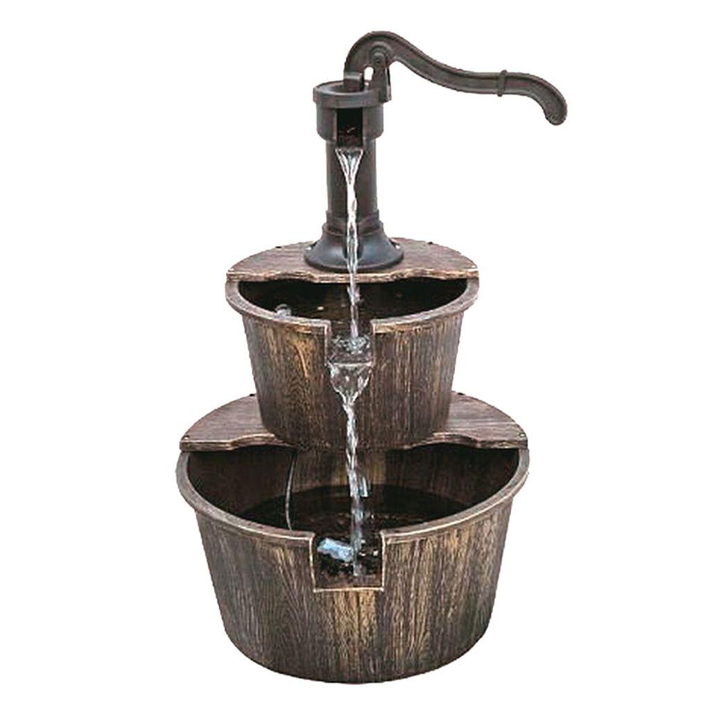 Brunnen, Holzoptik, H 20 cm THALASSO