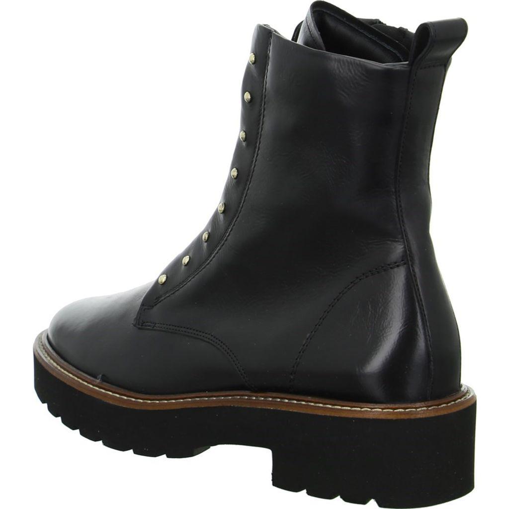 Paul Green Damen Boots Glattleder Gummisohle Lederfutter Reißverschluss