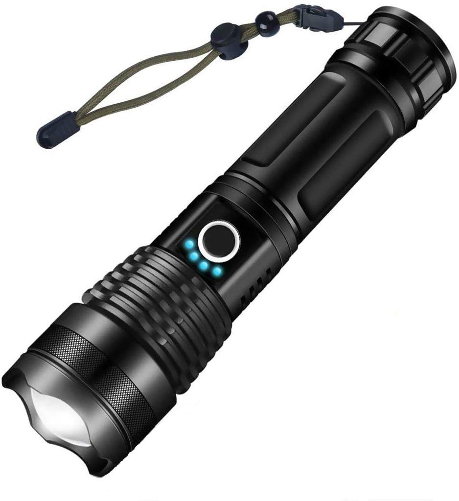 XHP50 USB wiederaufladbare 5 Modi Zoombare wasserdichte LED Taschenlampe DE