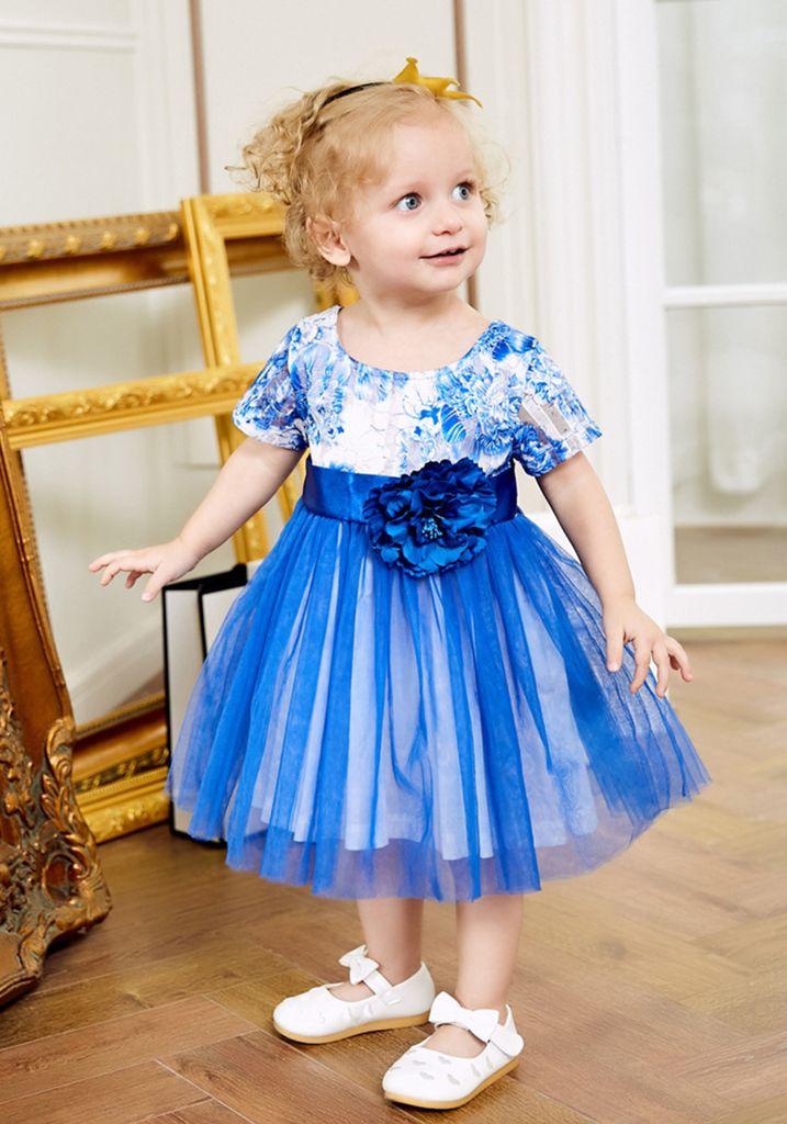 Baby Mädchen Blumenmädchen Kleid Kinder Hochzeit Brautjungferkleid Prinzessin