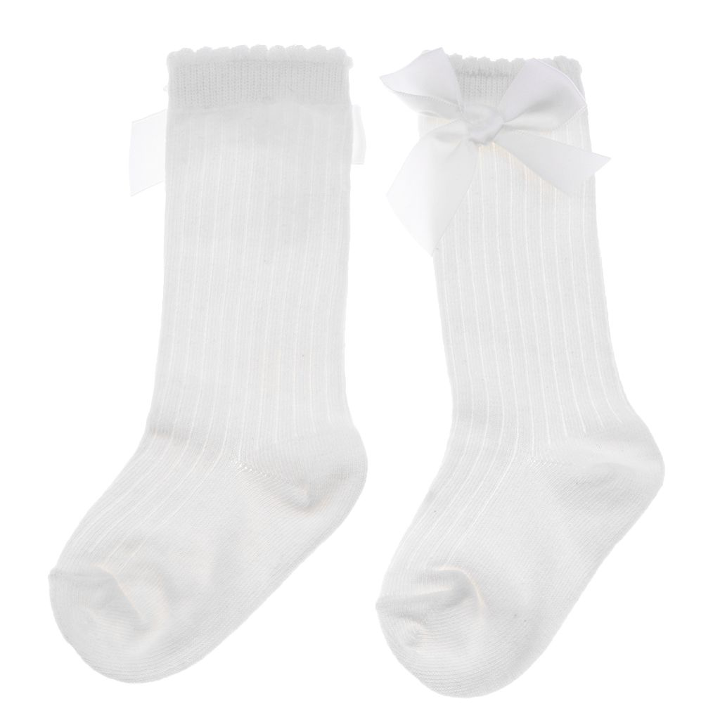 Kleinkind Mädchen Kniestrumpf Warm Strumpf Bowknot Socken Stricksocken Langsocke