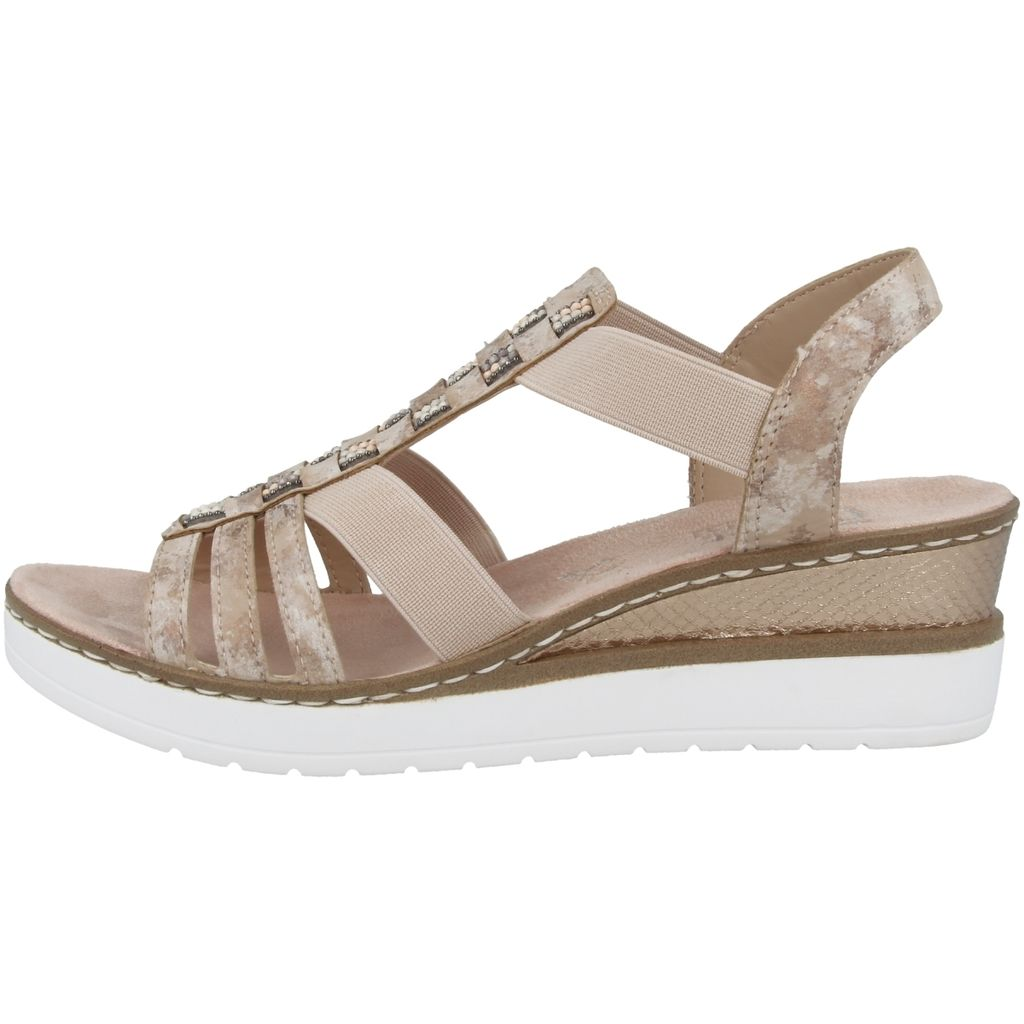 NEU!! Rieker Damen Sandale beige weiche Innensohle