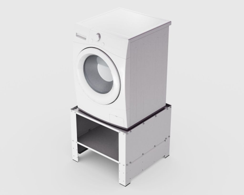 Waschmaschinensockel Weiß Untergestell Zwischenbaurahmen Waschmaschine Trockner