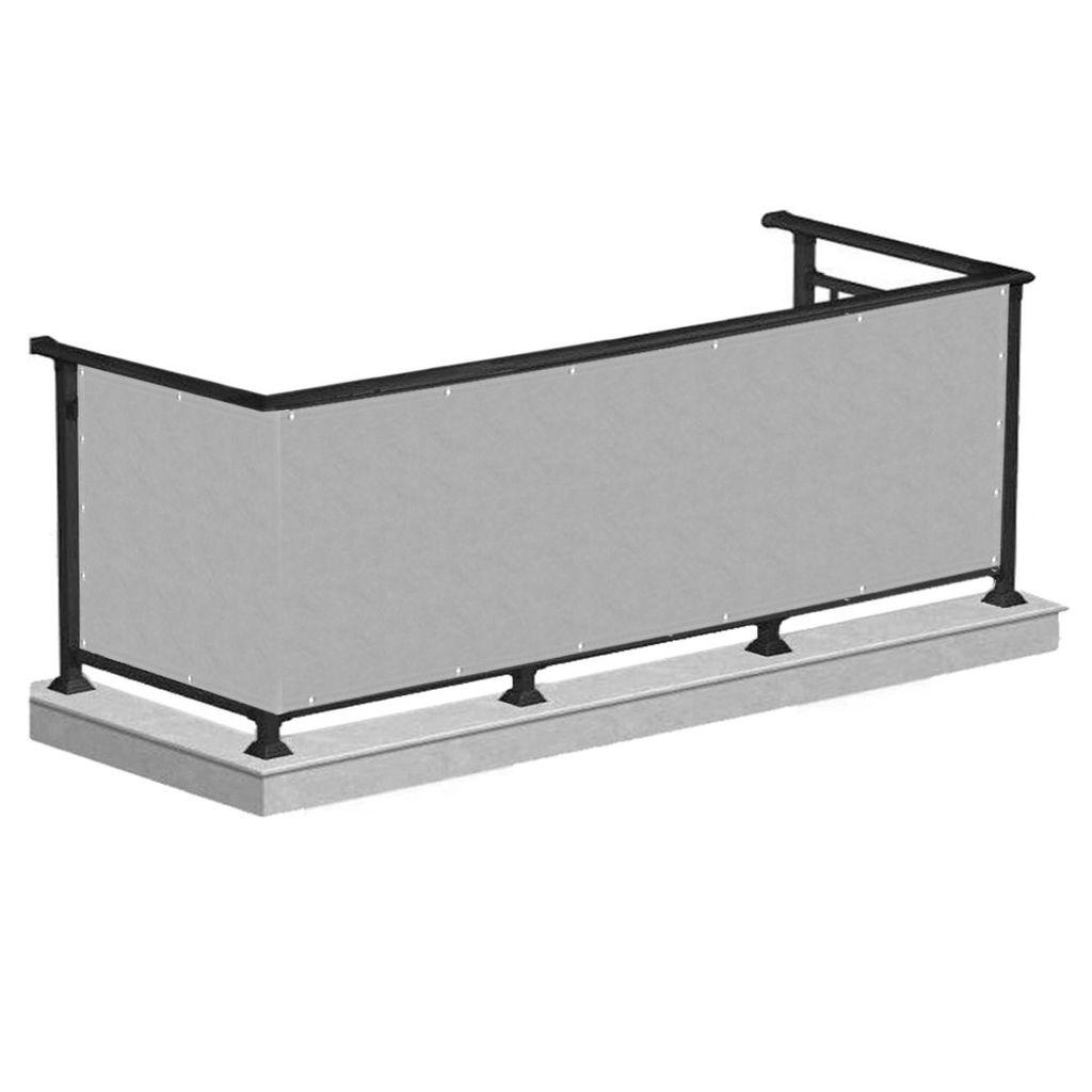 Balkon Sichtschutz Bespannung Terrasse Balkonverkleidung Sonnen Wind Schutz  8 x 8m   Grau