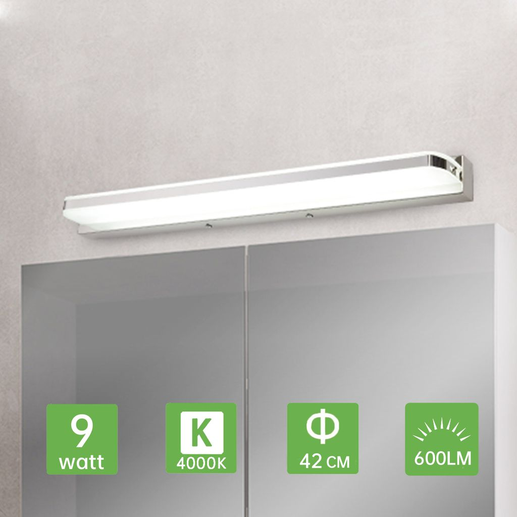 Kimjo LED Spiegelleuchte Badezimmer 10CM 10W, Spiegellampe IP10  Spritzwassergeschützt Neutralweiß 10K 10LM für Badzimmer, Badleuchte  Badspiegel ...
