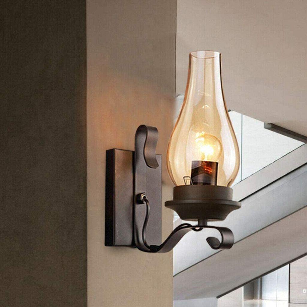 Wall Light E27 Retro Wandlampe Vintage Industrie Wohnzimmer Wandleuchte 220V DE