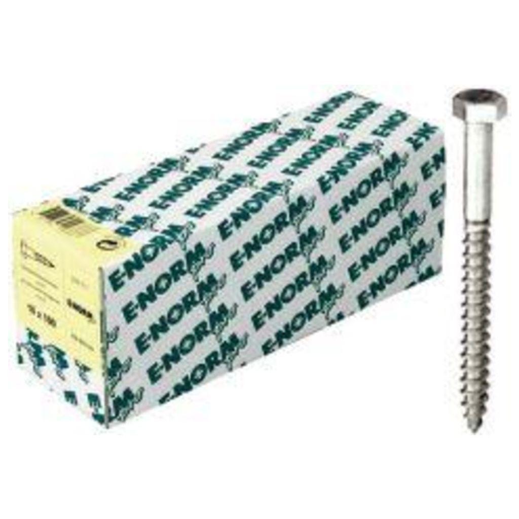 E-NORMpro Sechskant Holzschrauben DIN 571 ST galZn 10x300 HP Inh. 25 Stück