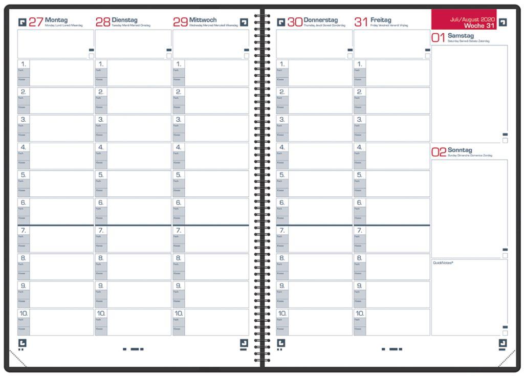 PP-Deckel Lehrerkalender 2021// 2022 40061... schwarz Oxford 100740386 DIN A4