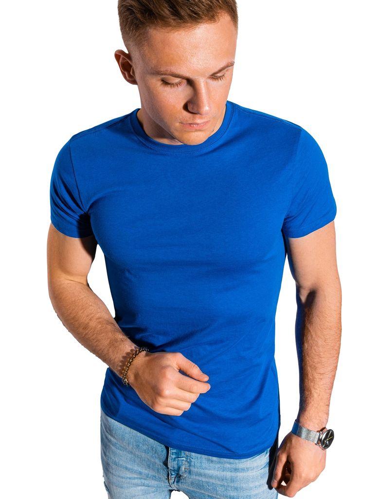 Ombre Herren T shirt Top Kurzarm Shirt Rundausschnitt Einfarbig Casual  Basic für Männer 20  Baumwolle 20 Farben S XXL S13200 Blau XL