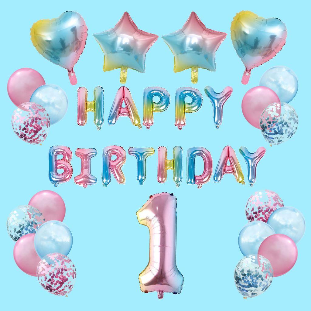 Oblique Unique 8. Geburtstag Party Deko Set   Happy Birthday + Zahl 8  Ballon + Konfetti Luftballons + Herzen uvm.