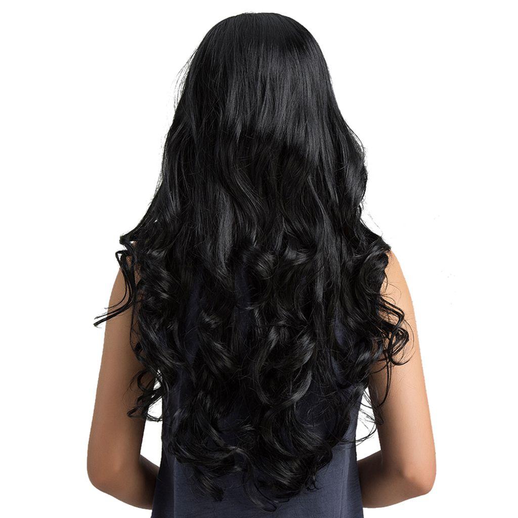Strähnen mit lange schwarze haare Schwarze Haare
