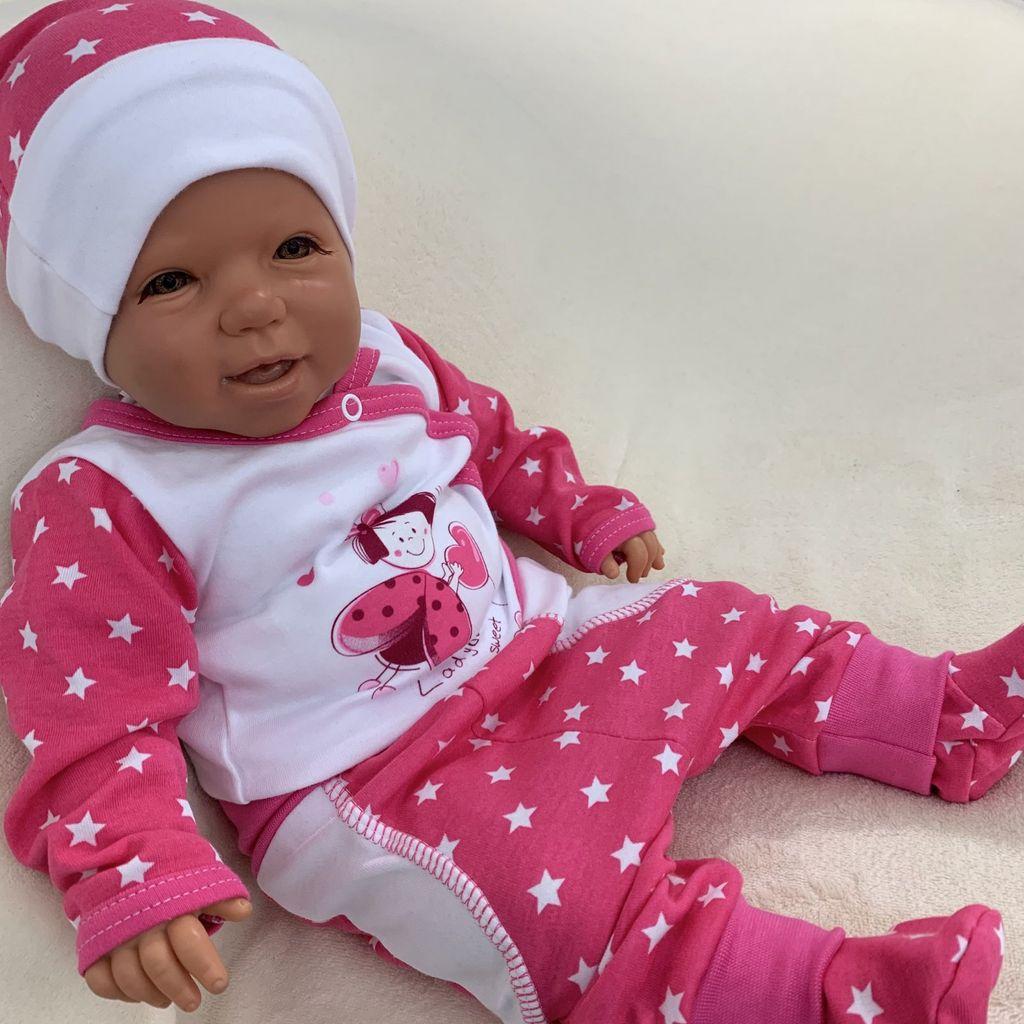98 Baby Mädchen Anzug Set 3 Teile Gr 92