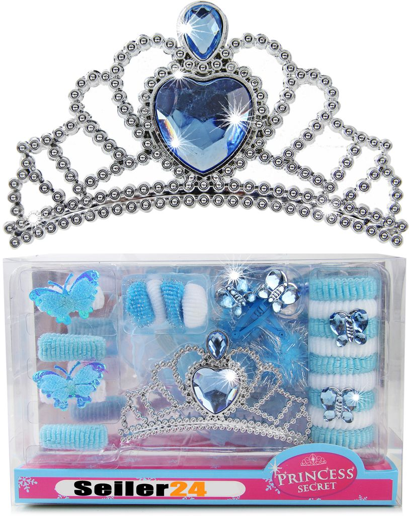 Mädchen Diadem Krone für Prinzessin-Kostüm Kleid Karneval Elsa Eiskönigin Tiara
