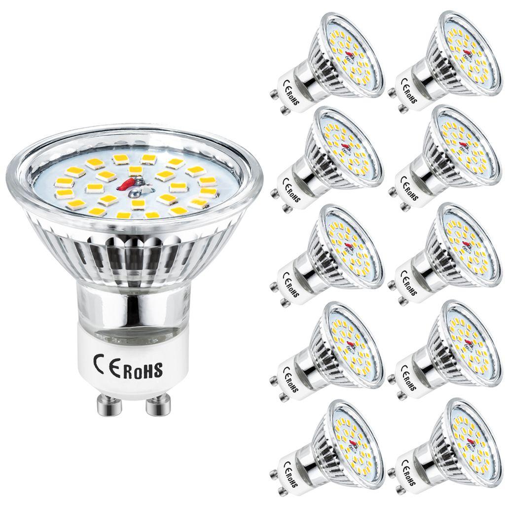 220Volt Gu10 Schutzglas 5W Spots Lampen Birne SMD LED Leuchtmittel