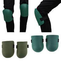 2 Paar Knieschoner Knieschützer mit strapazierfähigen Doppelriemen und verstellbarem Verschluss für Gartenarbeit Renovierungsarbeiten