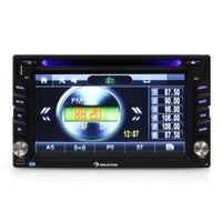 Auna MVD-480 Doppel-DIN Moniceiver, 15,75 cm (6,2 Zoll) Display, Radio, MP3-Wiedergabe, DVD-Player, USB, Bluetooth, Smartphone-Steuerung